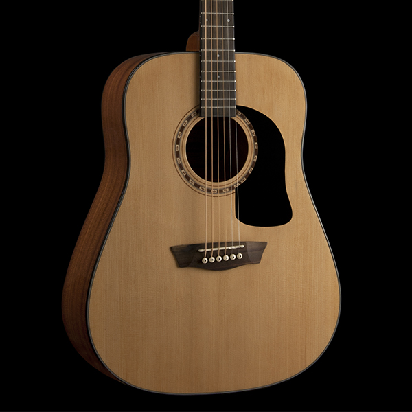 body of Washburn acoustic guitar