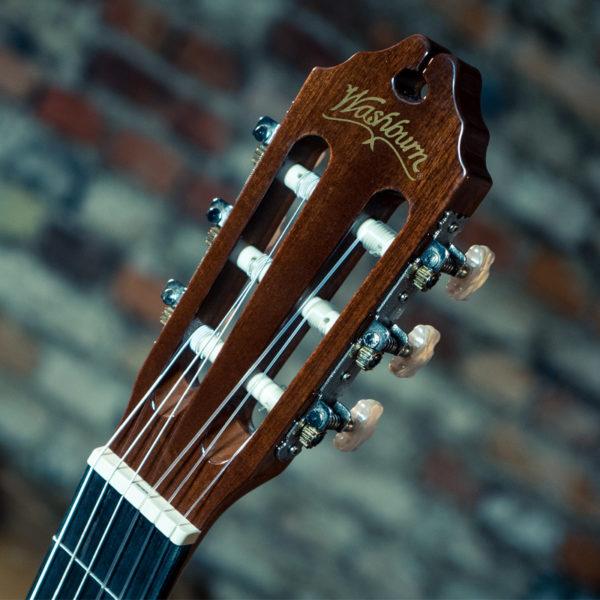 headstock of Washburn classical guitar