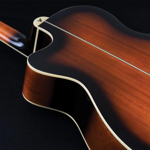 back of acoustic guitar