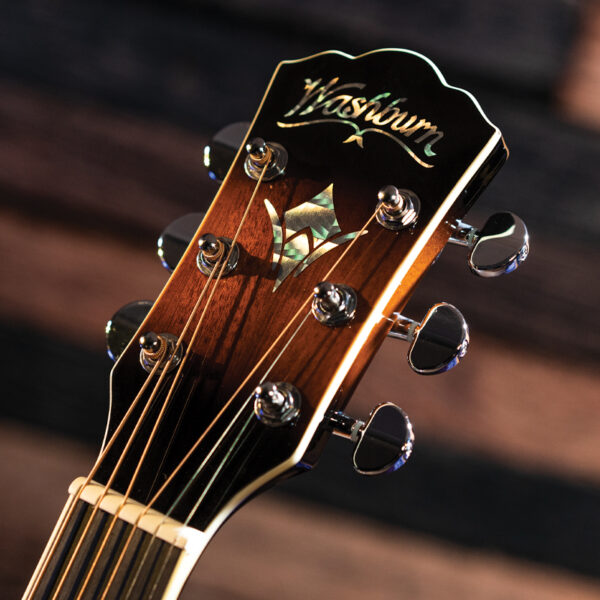 Washburn acoustic guitar headstock