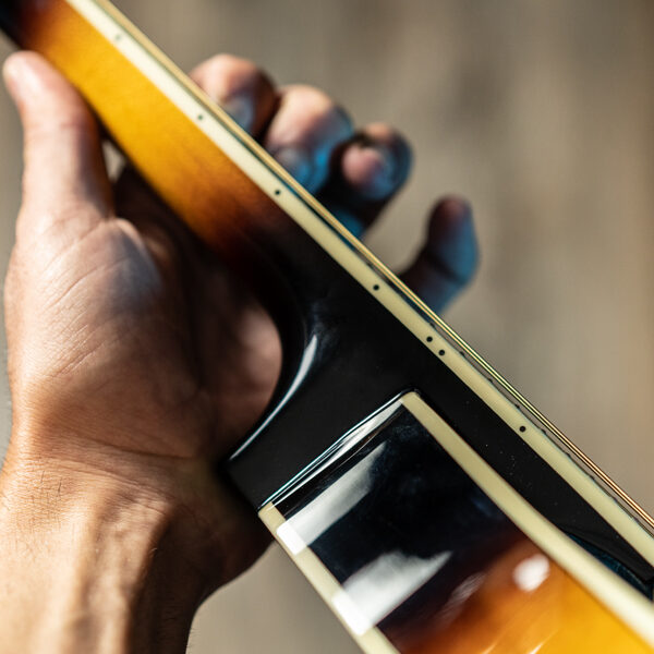 hand playing mandolin