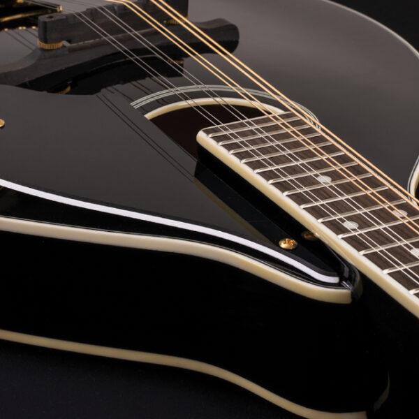 body of black mandolin