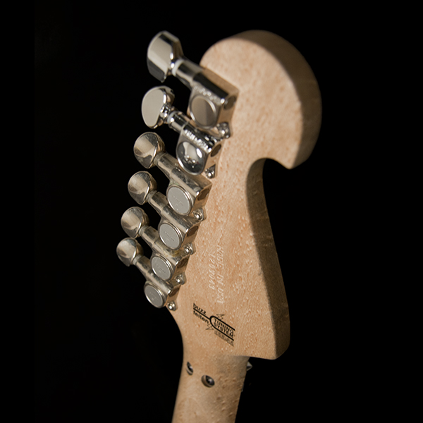 back of headstock of Washburn electric guitar
