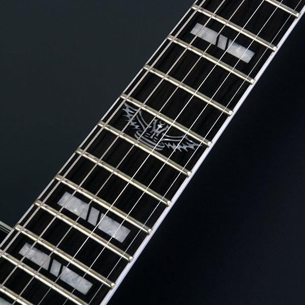 PXL20B PARALLAXE L20 close up of the fret board inlays