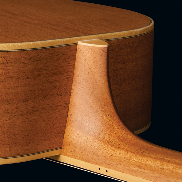 top of body of Washburn acoustic guitar