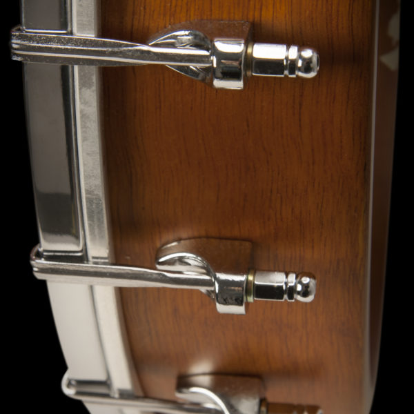 B7 AMERICANA BANJO detail view of the resonator adjustment screws