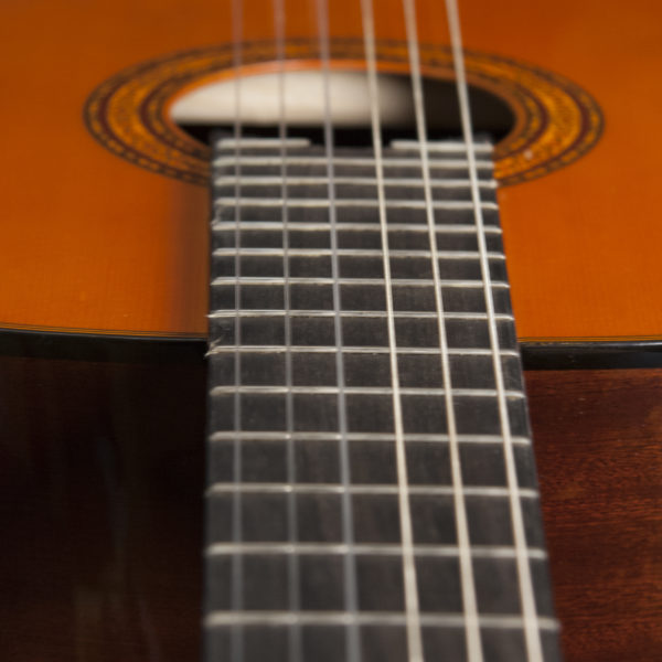 C5 CLASSICAL GUITAR angle view of the fretboard