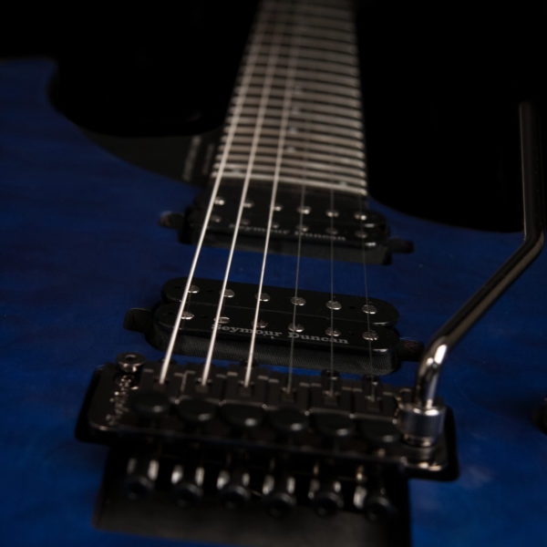 PXM10FRQTBLM PARALLAXE M10FRQ view of floyd rose and pickups
