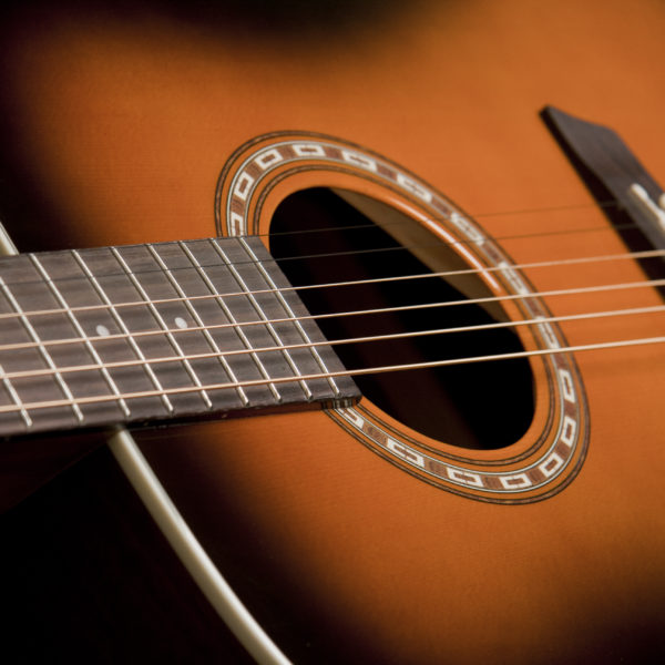 WD7SATB Harvest D7SATB close up of the sound hole and roseette