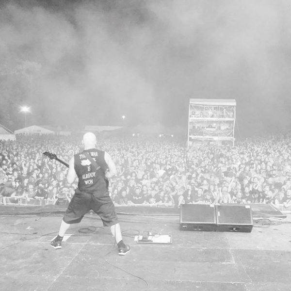 artist on stage
