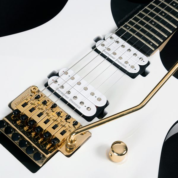 PXM-DP10WH CLOSE UP OF THE BRIDGE AND PICKUPS