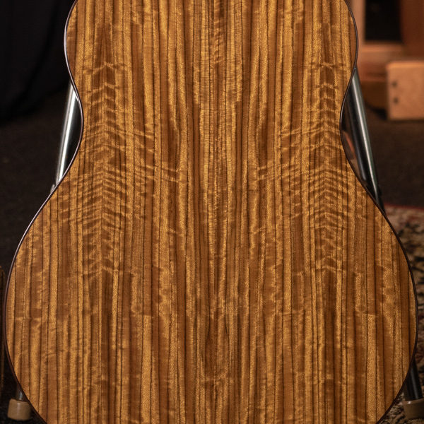 back of body of Washburn acoustic guitar