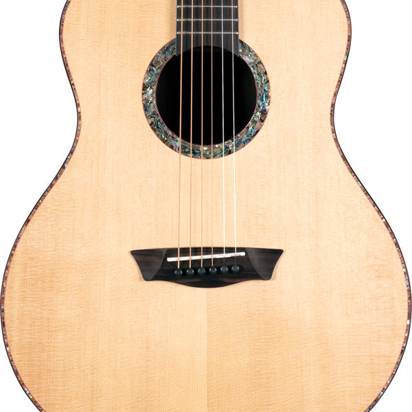 body of Washburn acoustic guitar