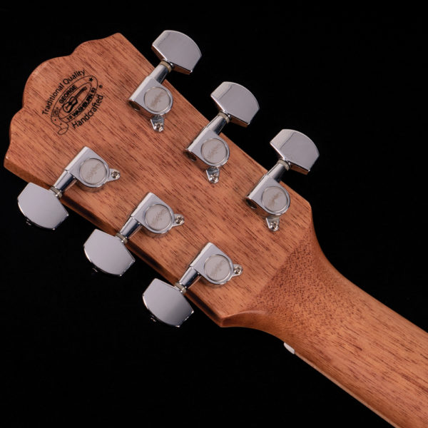 hd80s guitar back view of headstock and tuning keys