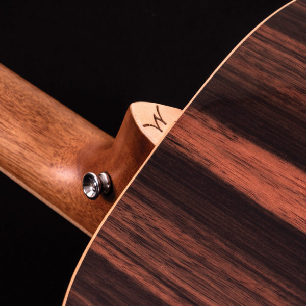 hd80s guitar close up of neck heel