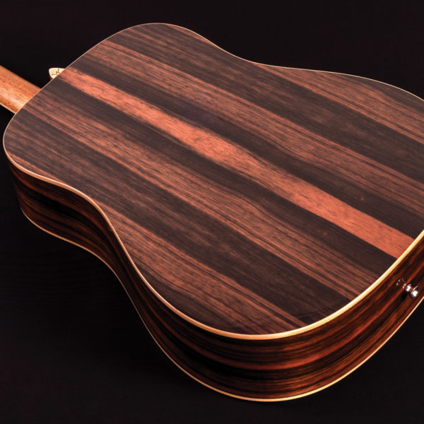hd80s guitar back view of body