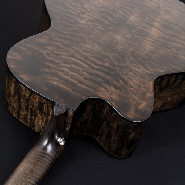 back of Washburn acoustic guitar