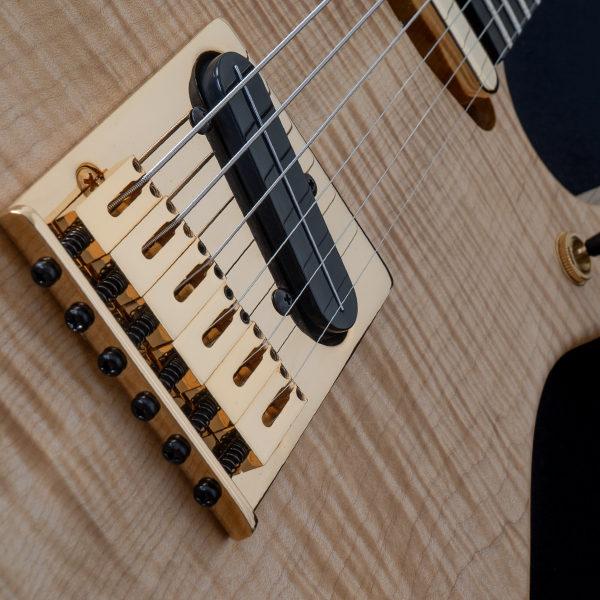 closeup of body of Washburn electric guitar