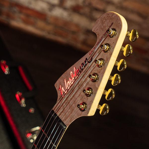 headstock of Washburn electric guitar