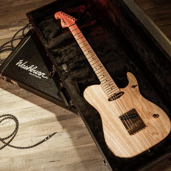 Washburn electric guitar in case