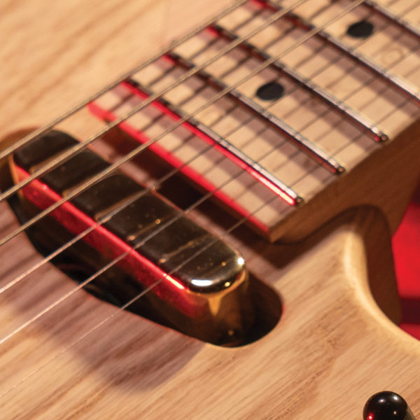 closeup of Washburn electric guitar