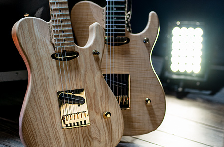 two Washburn electric guitars