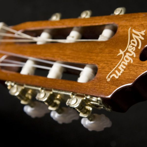 C5CE Classical Guitar close up of head stock from front
