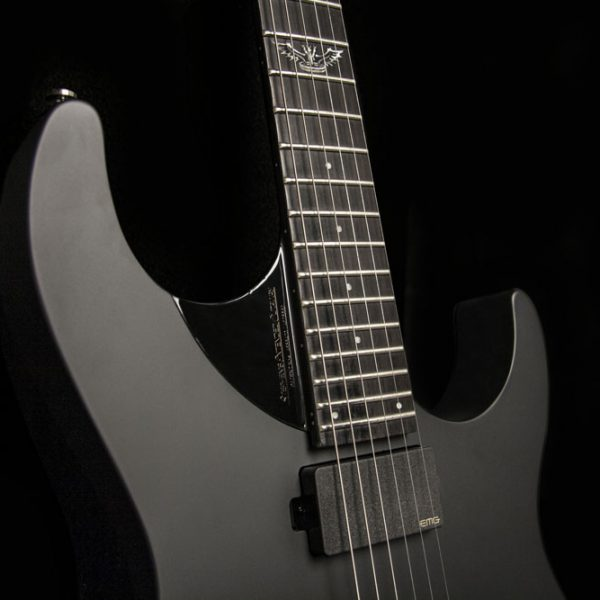 PXS10EC angle view of neck pickup and cutaway