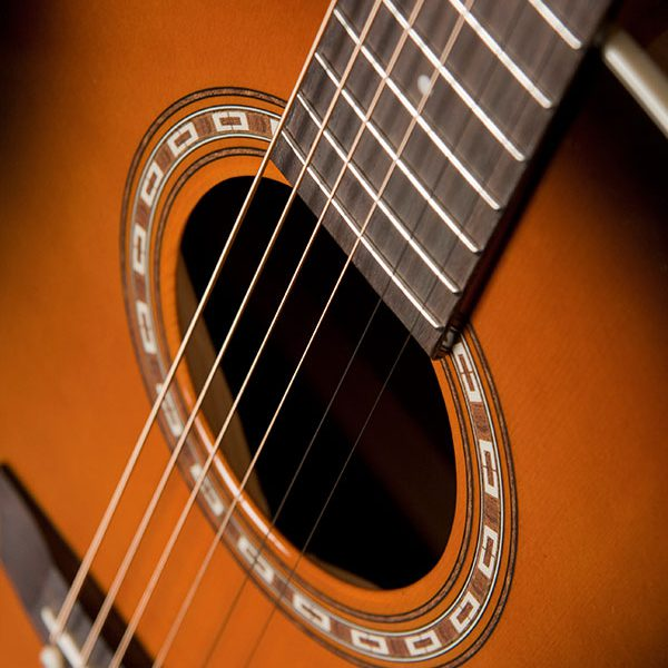 WD7SATB angled close up of the sound hole and roseette