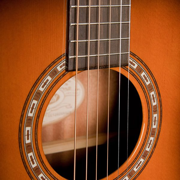 WD7SATB close up of sound hole and roseette